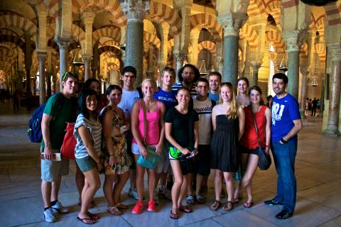 Photo of a faculty-directed student group studying abroad in Spain